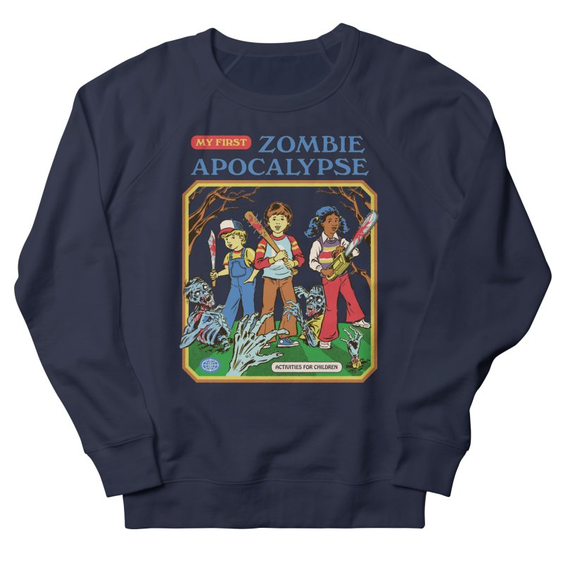 My First Zombie Apocalypse Women's French Terry Sweatshirt by Steven Rhodes