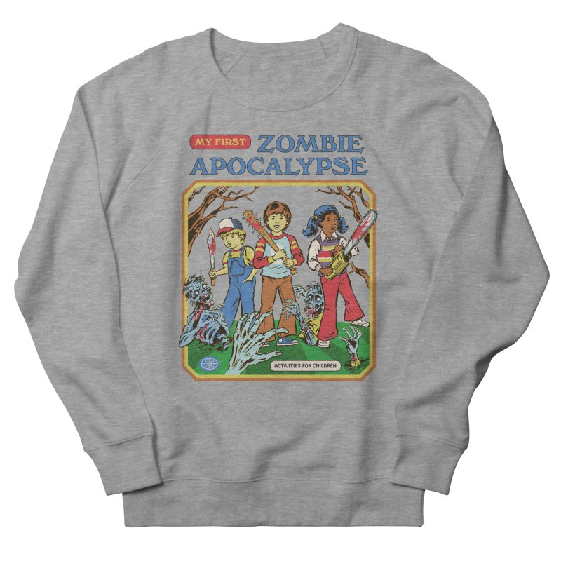 My First Zombie Apocalypse Men's French Terry Sweatshirt by Steven Rhodes