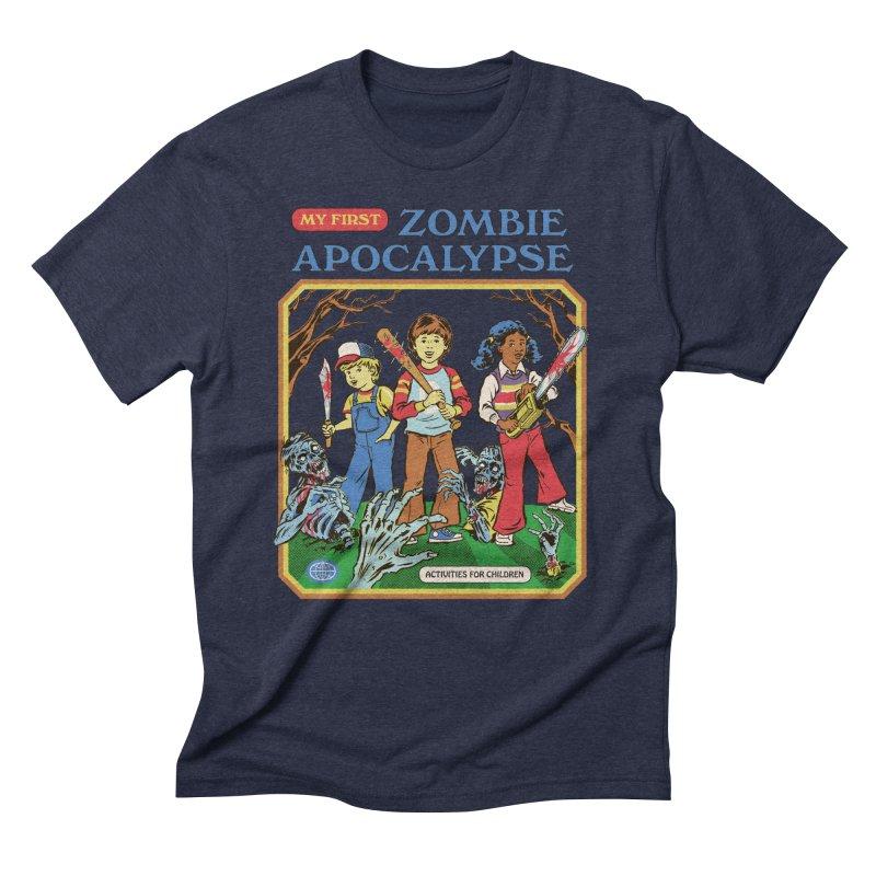 My First Zombie Apocalypse Men's Triblend T-Shirt by Steven Rhodes