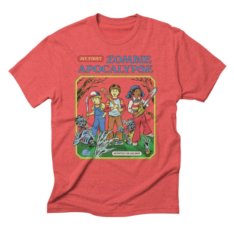 My First Zombie Apocalypse Men's Triblend T-Shirt by Steven Rhodes
