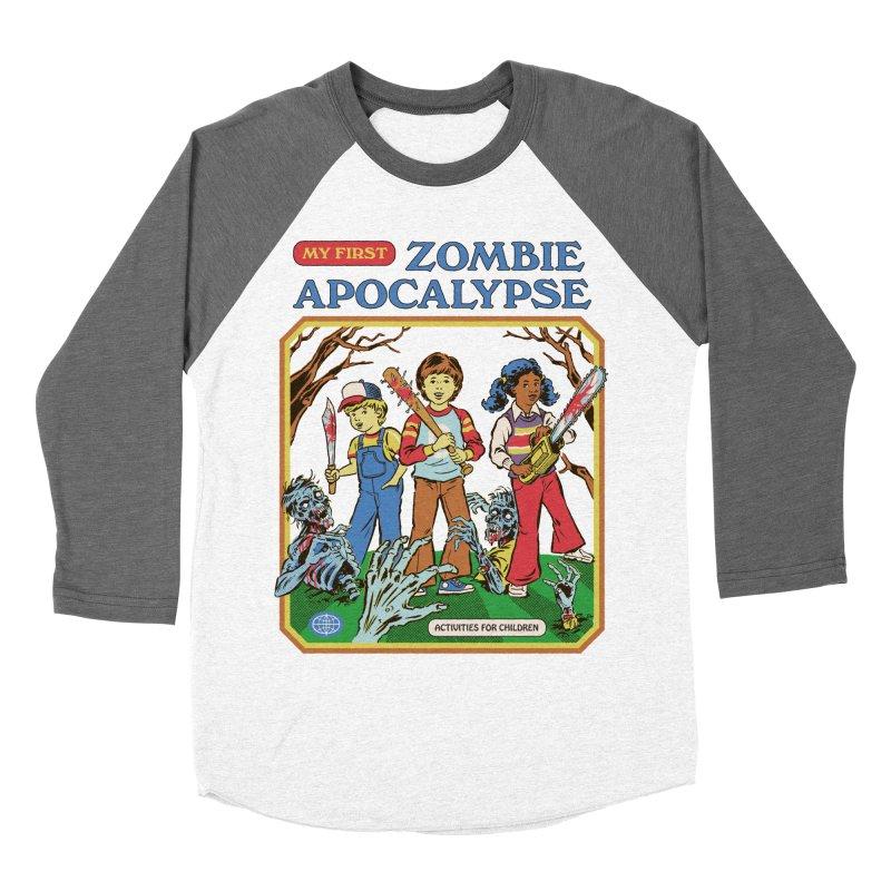 My First Zombie Apocalypse Women's Longsleeve T-Shirt by Steven Rhodes