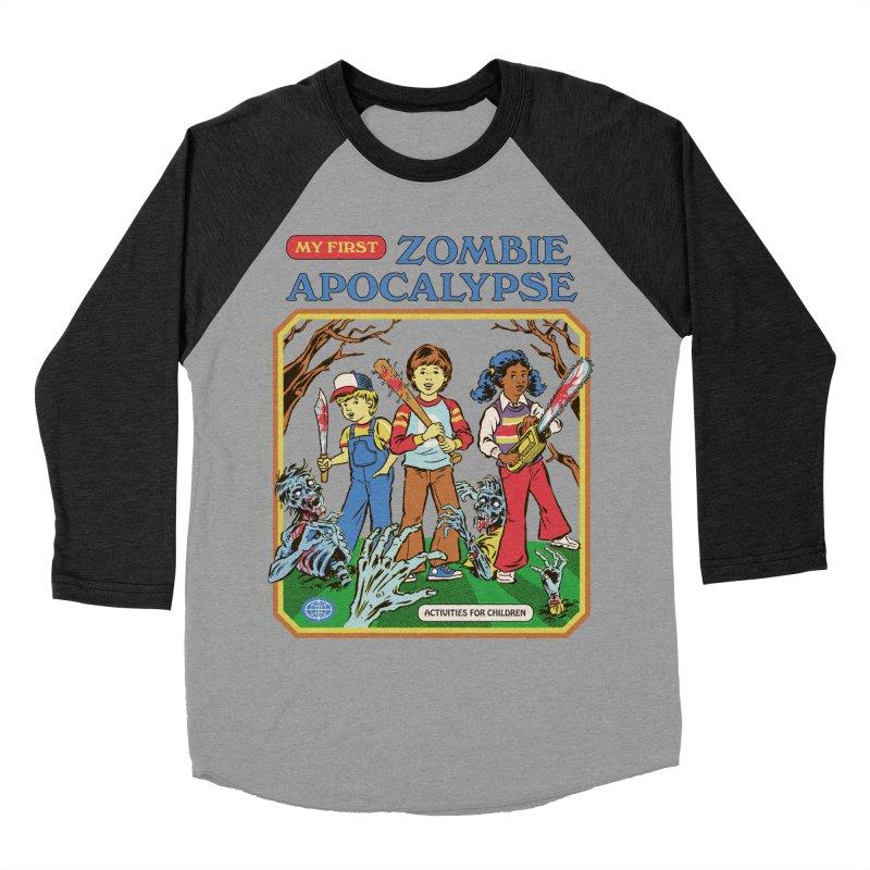 My First Zombie Apocalypse Women's Baseball Triblend Longsleeve T-Shirt by Steven Rhodes