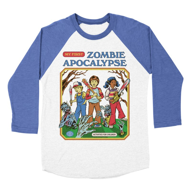 My First Zombie Apocalypse Men's Baseball Triblend Longsleeve T-Shirt by Steven Rhodes