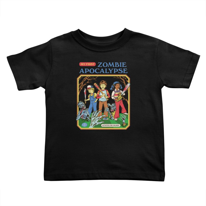 My First Zombie Apocalypse Kids Toddler T-Shirt by Steven Rhodes
