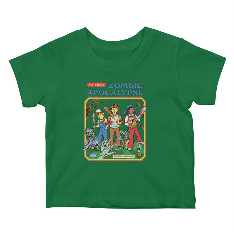 My First Zombie Apocalypse Kids Baby T-Shirt by Steven Rhodes