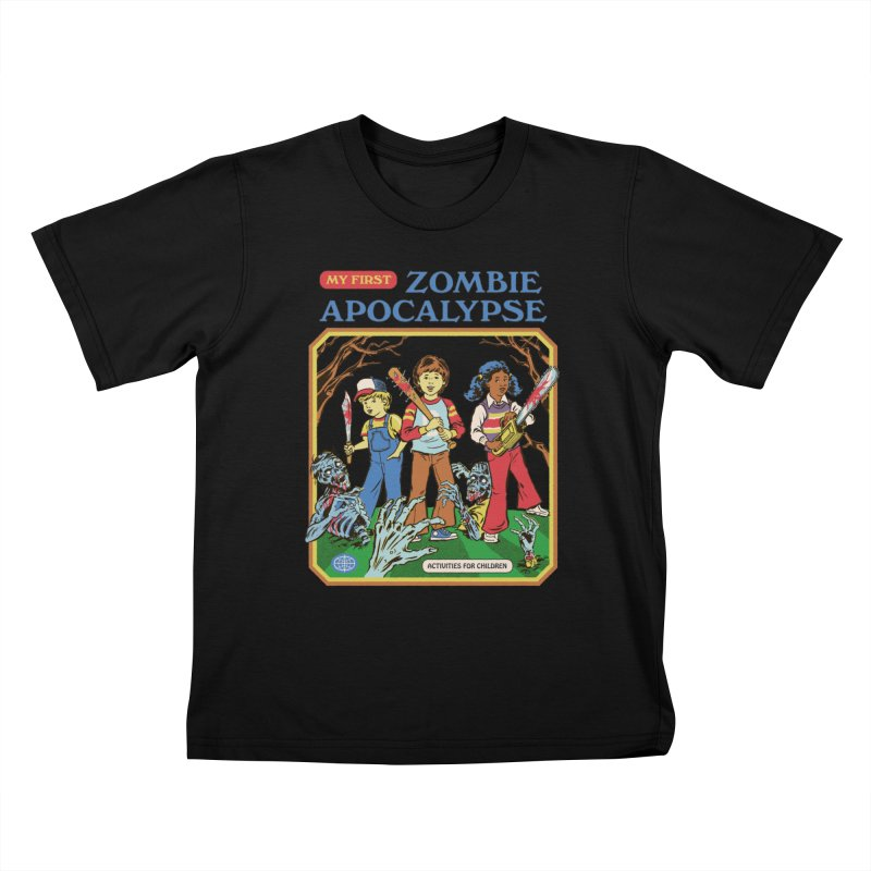 My First Zombie Apocalypse Kids T-Shirt by Steven Rhodes