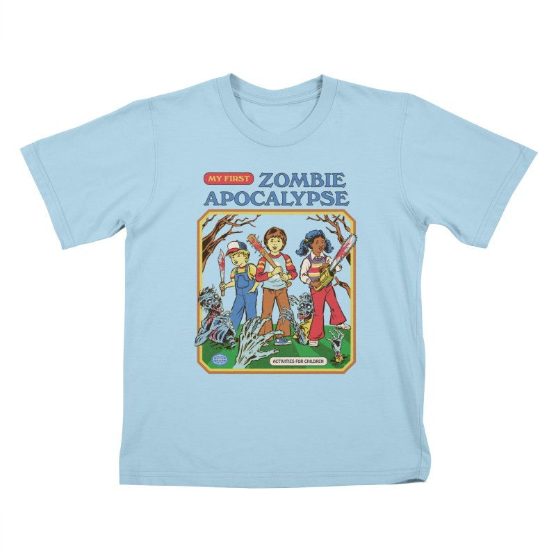 My First Zombie Apocalypse Kids T-Shirt by Steven Rhodes