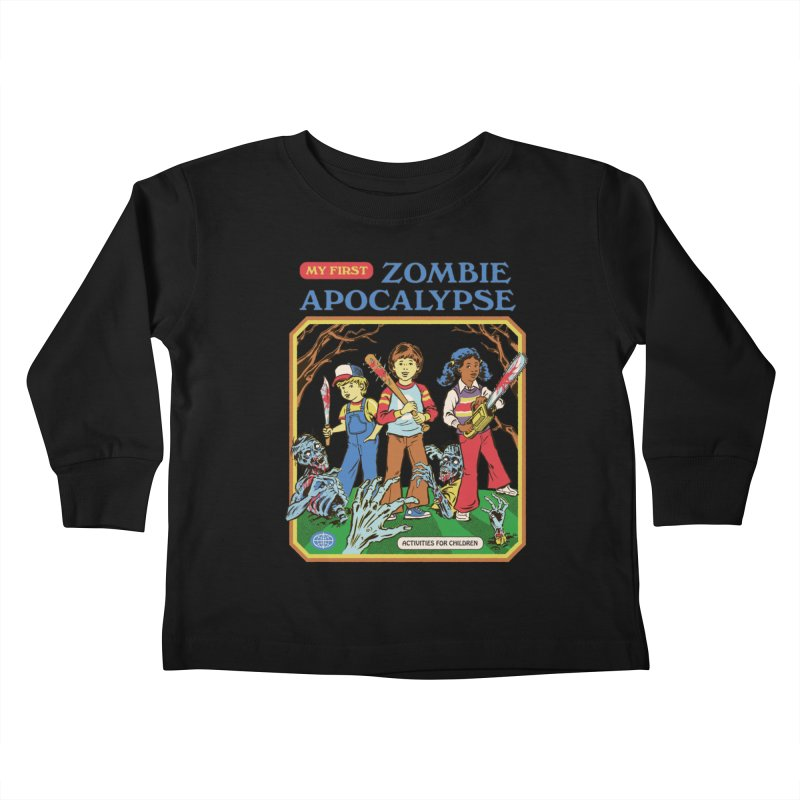 My First Zombie Apocalypse Kids Toddler Longsleeve T-Shirt by Steven Rhodes