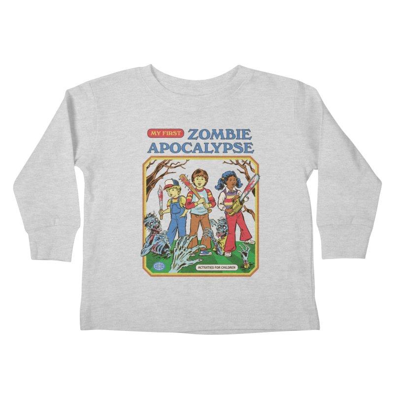 My First Zombie Apocalypse Kids Toddler Longsleeve T-Shirt by Steven Rhodes