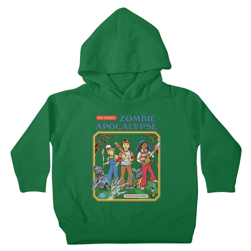 My First Zombie Apocalypse Kids Toddler Pullover Hoody by Steven Rhodes