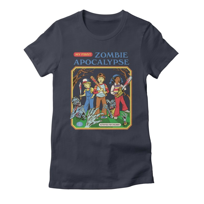 My First Zombie Apocalypse Women's Fitted T-Shirt by Steven Rhodes