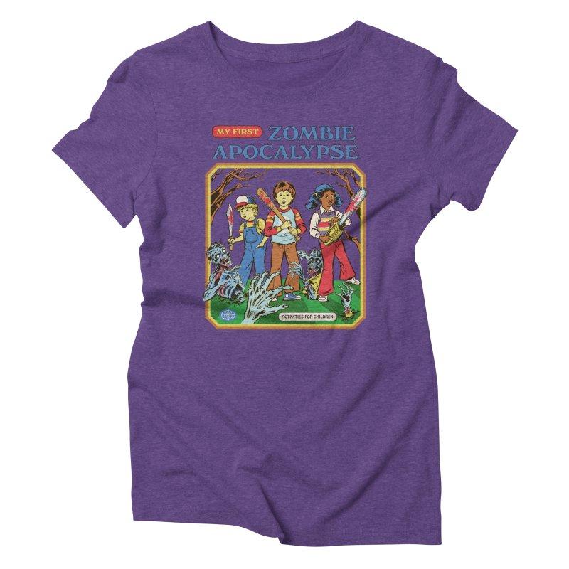 My First Zombie Apocalypse Women's Triblend T-Shirt by Steven Rhodes