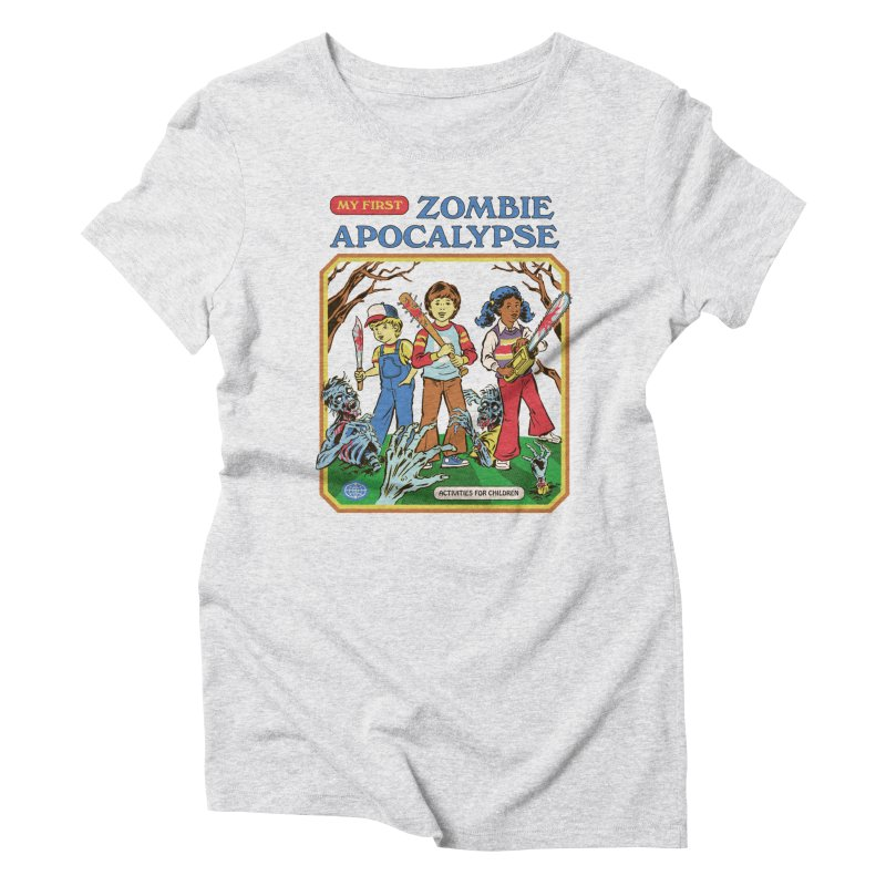 My First Zombie Apocalypse Women's T-Shirt by Steven Rhodes