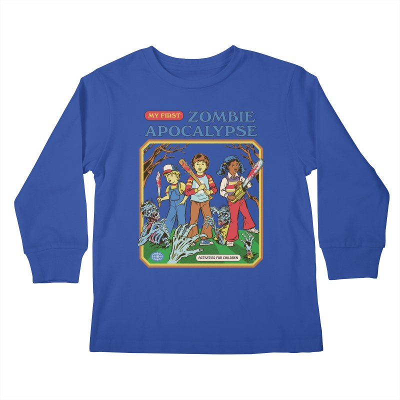 My First Zombie Apocalypse Kids Longsleeve T-Shirt by Steven Rhodes