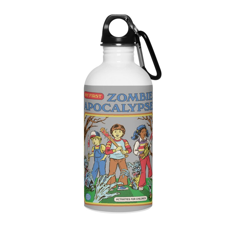 My First Zombie Apocalypse Accessories Water Bottle by Steven Rhodes