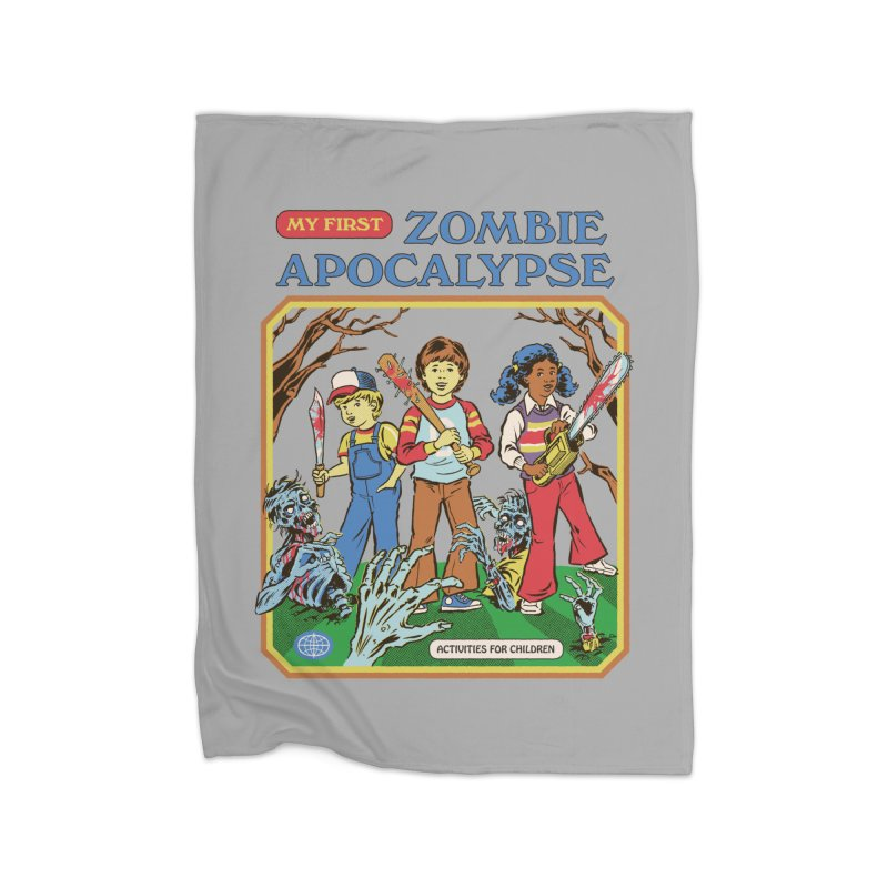 My First Zombie Apocalypse Home Blanket by Steven Rhodes