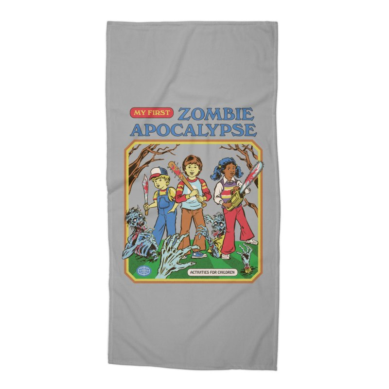 My First Zombie Apocalypse Accessories Beach Towel by Steven Rhodes