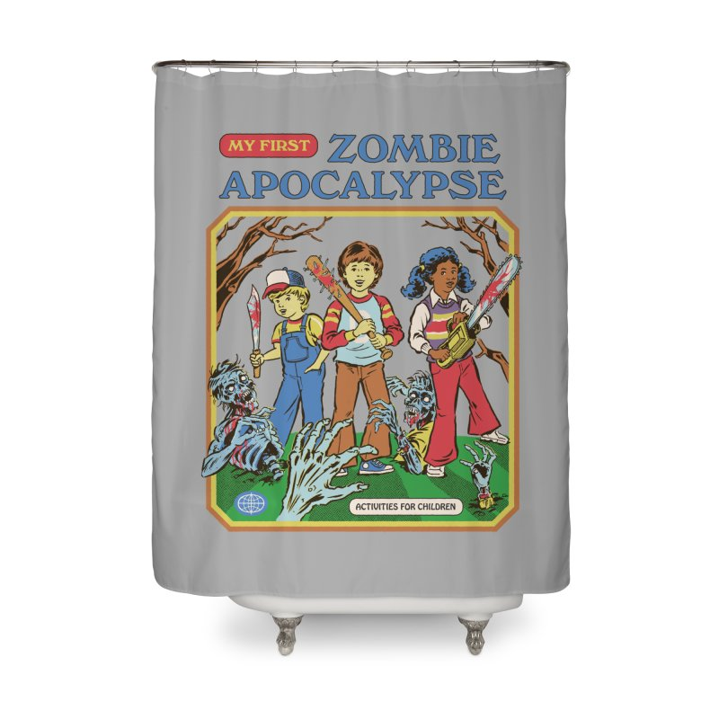 My First Zombie Apocalypse Home Shower Curtain by Steven Rhodes