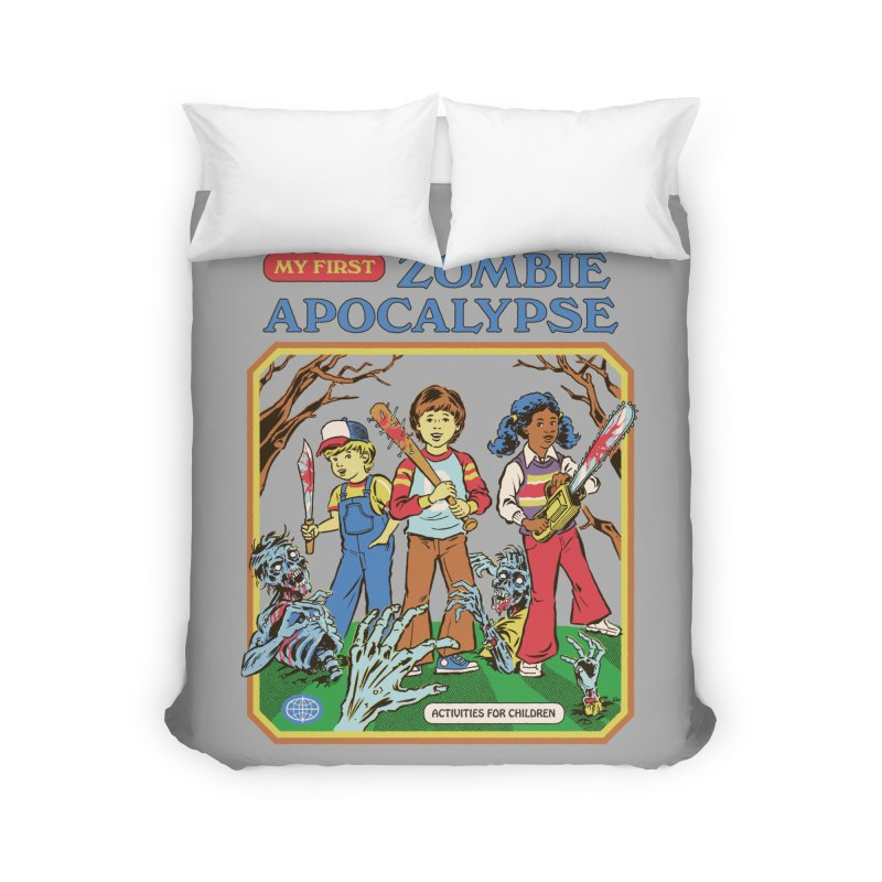 My First Zombie Apocalypse Home Duvet by Steven Rhodes