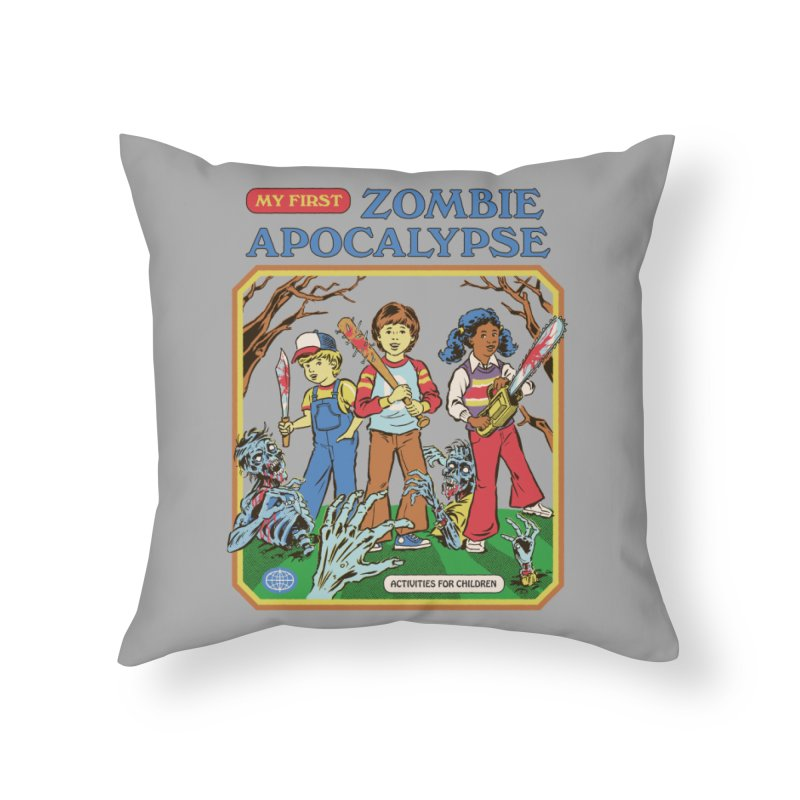 My First Zombie Apocalypse Home Throw Pillow by Steven Rhodes
