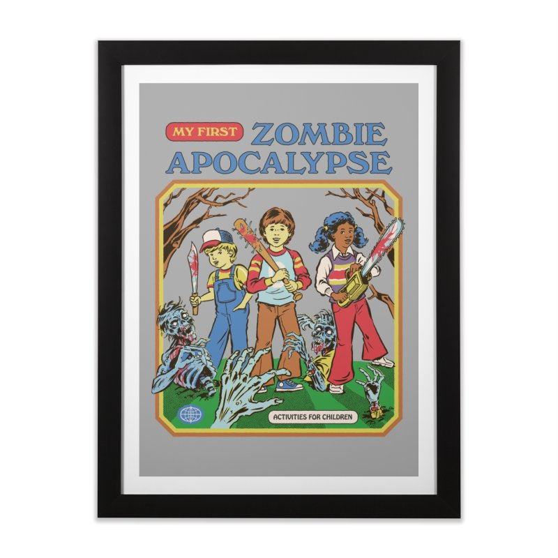 My First Zombie Apocalypse Home Framed Fine Art Print by Steven Rhodes