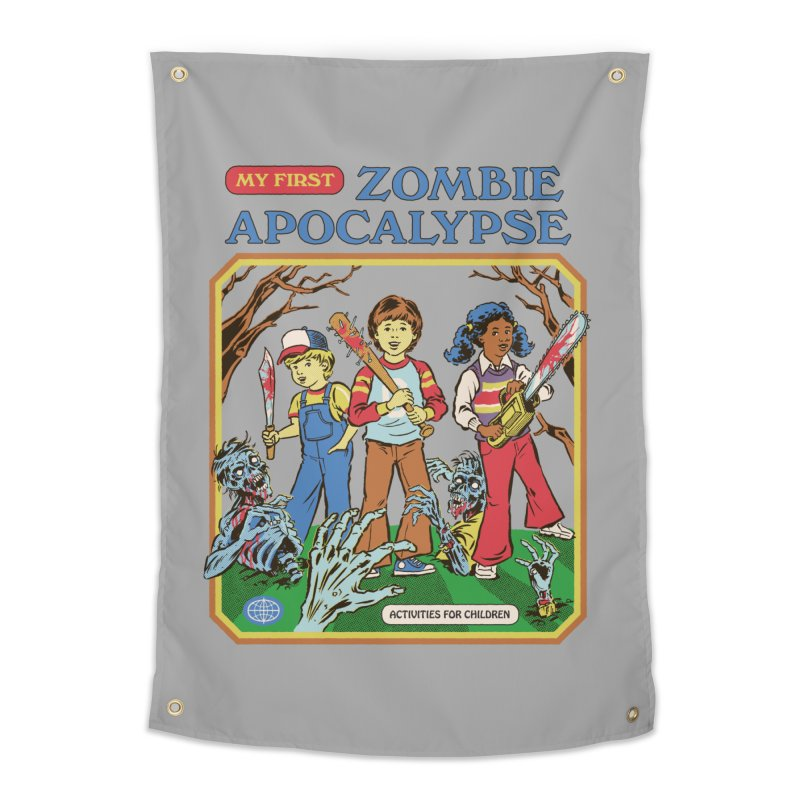 My First Zombie Apocalypse Home Tapestry by Steven Rhodes