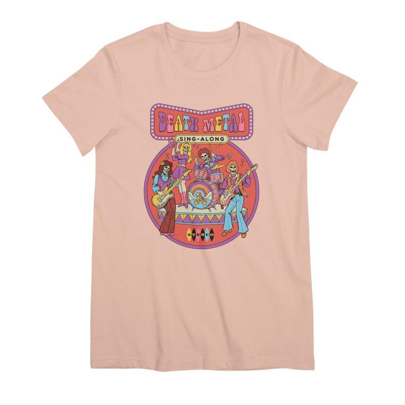 Death Metal Sing-Along Women's Premium T-Shirt by Steven Rhodes
