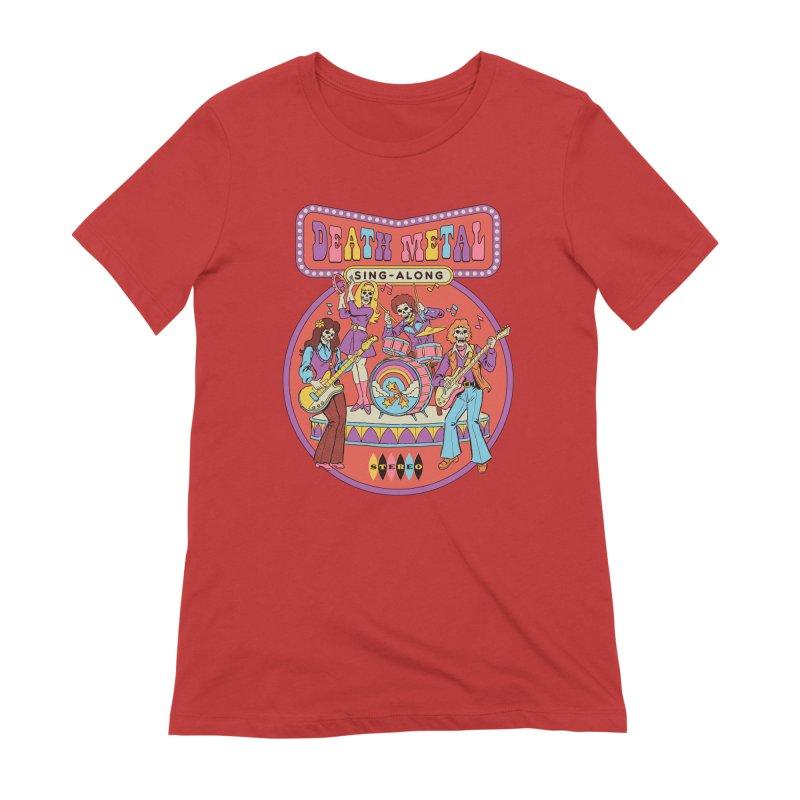 Death Metal Sing-Along Women's Extra Soft T-Shirt by Steven Rhodes