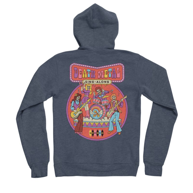 Death Metal Sing-Along Men's Sponge Fleece Zip-Up Hoody by Steven Rhodes