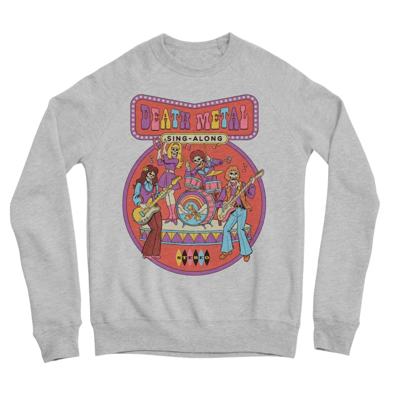 Death Metal Sing-Along Men's Sponge Fleece Sweatshirt by Steven Rhodes