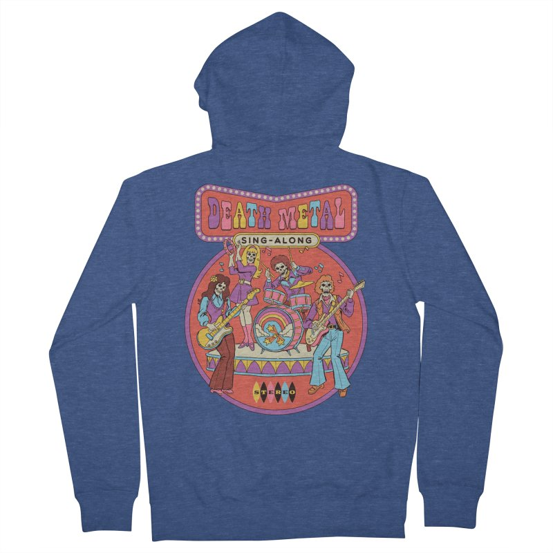 Death Metal Sing-Along Men's French Terry Zip-Up Hoody by Steven Rhodes