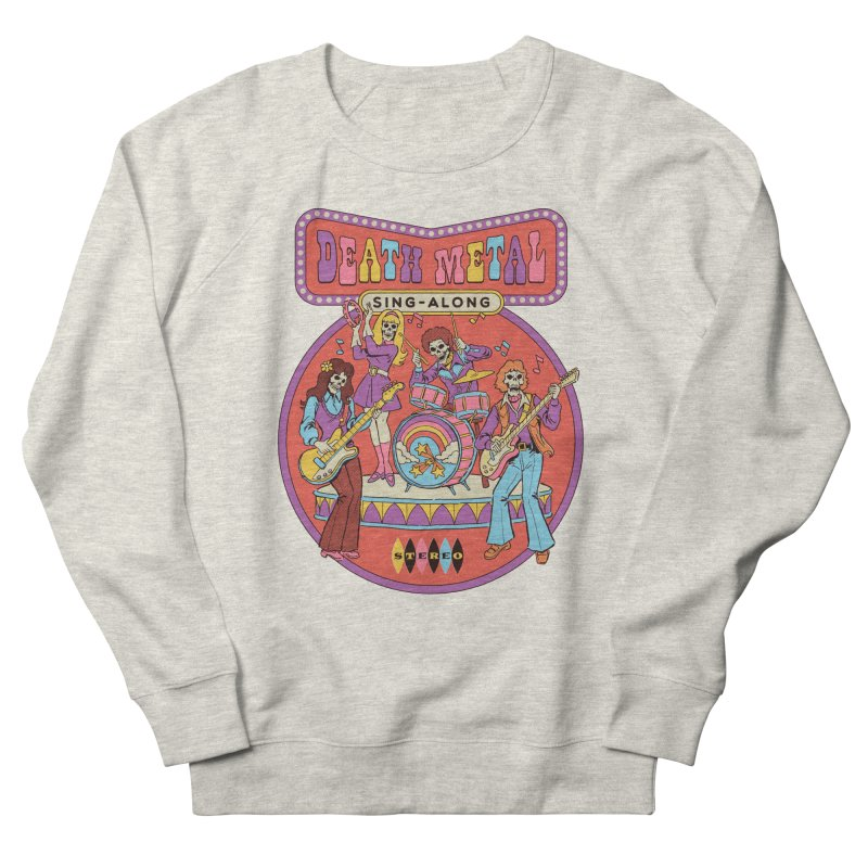 Death Metal Sing-Along Men's French Terry Sweatshirt by Steven Rhodes