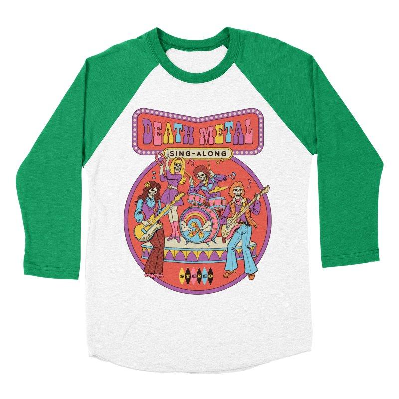 Death Metal Sing-Along Women's Baseball Triblend Longsleeve T-Shirt by Steven Rhodes
