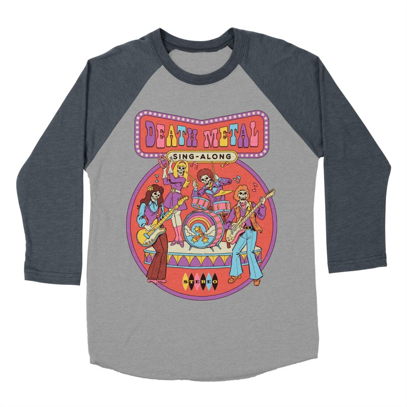 Death Metal Sing-Along Men's Baseball Triblend Longsleeve T-Shirt by Steven Rhodes