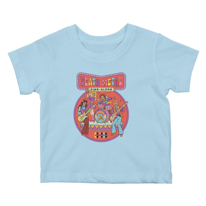 Death Metal Sing-Along Kids Baby T-Shirt by Steven Rhodes