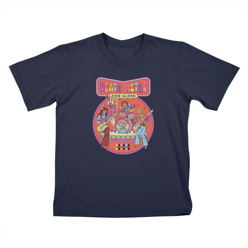 Death Metal Sing-Along Kids T-Shirt by Steven Rhodes