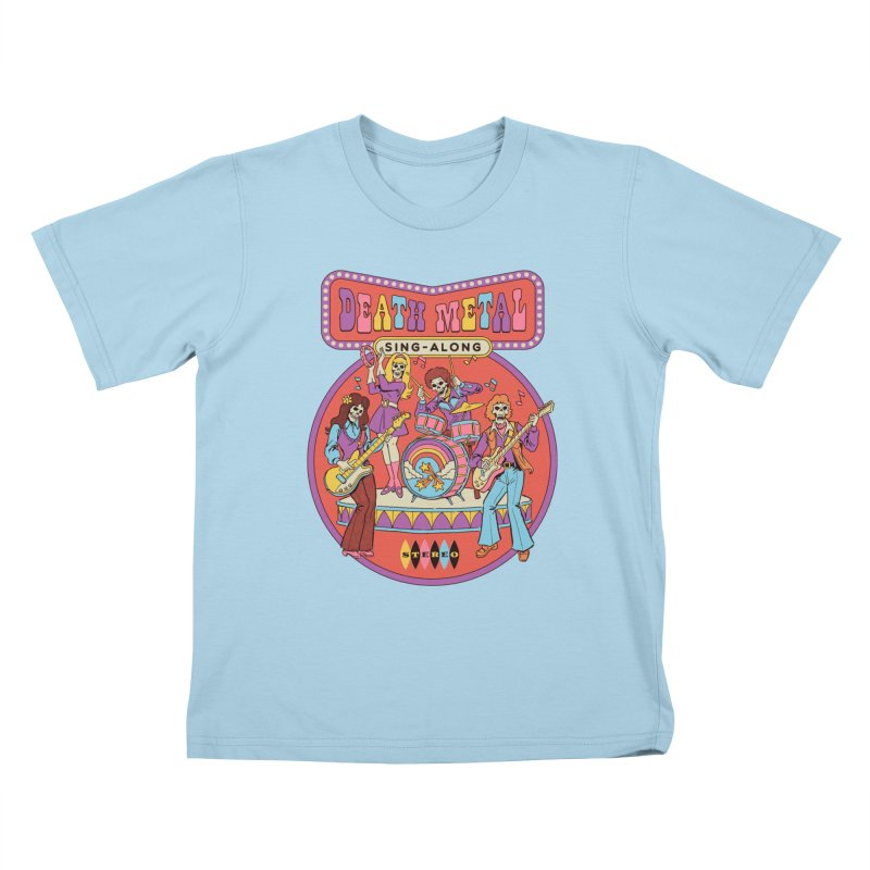 Death Metal Sing-Along Kids T-Shirt by Steven Rhodes