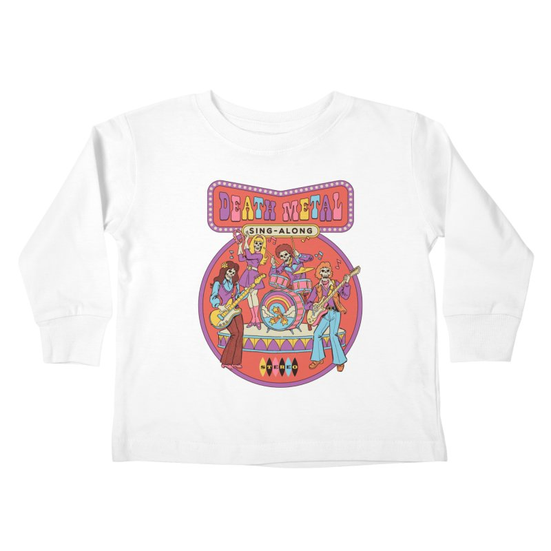 Death Metal Sing-Along Kids Toddler Longsleeve T-Shirt by Steven Rhodes
