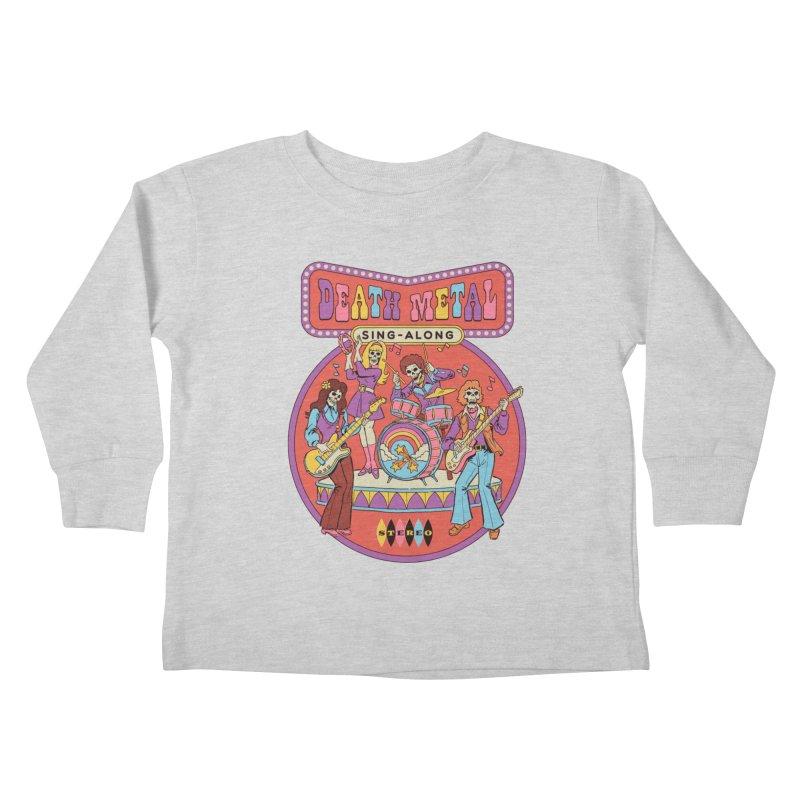 Death Metal Sing-Along Kids Toddler Longsleeve T-Shirt by Steven Rhodes