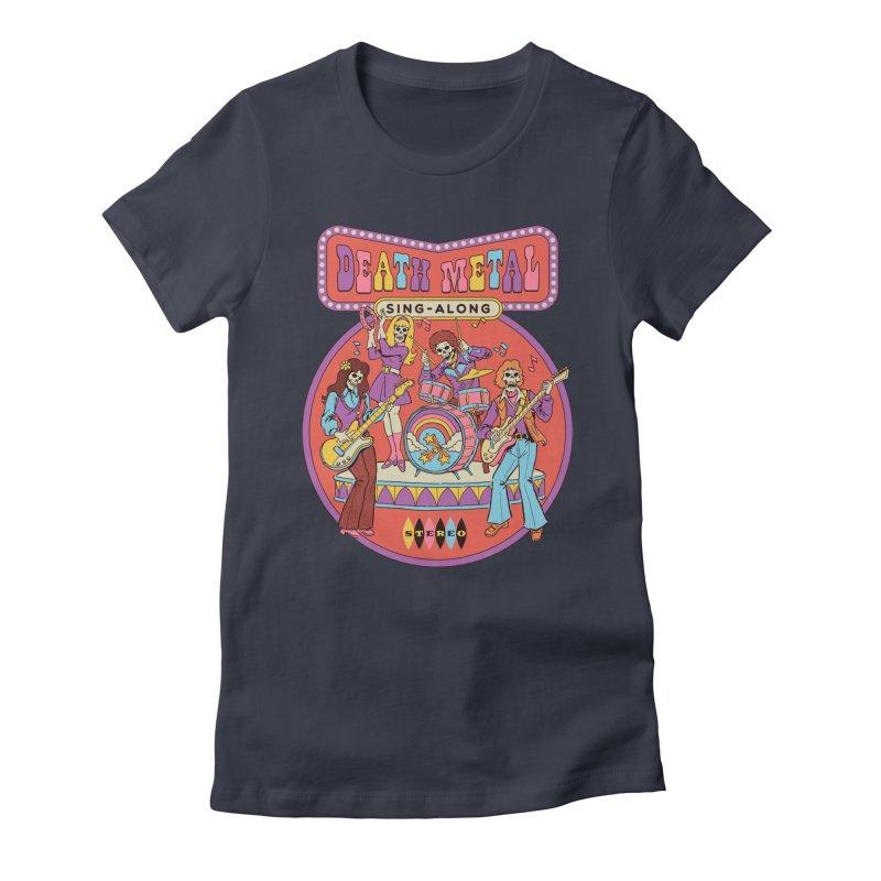 Death Metal Sing-Along Women's Fitted T-Shirt by Steven Rhodes