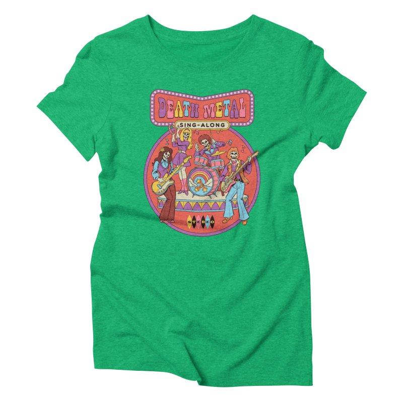 Death Metal Sing-Along Women's Triblend T-Shirt by Steven Rhodes