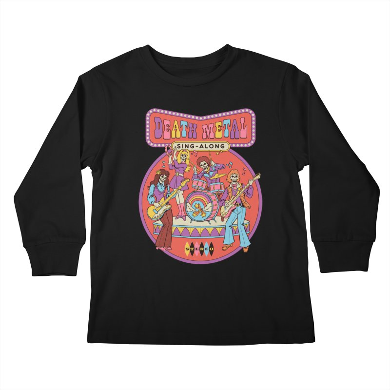Death Metal Sing-Along Kids Longsleeve T-Shirt by Steven Rhodes