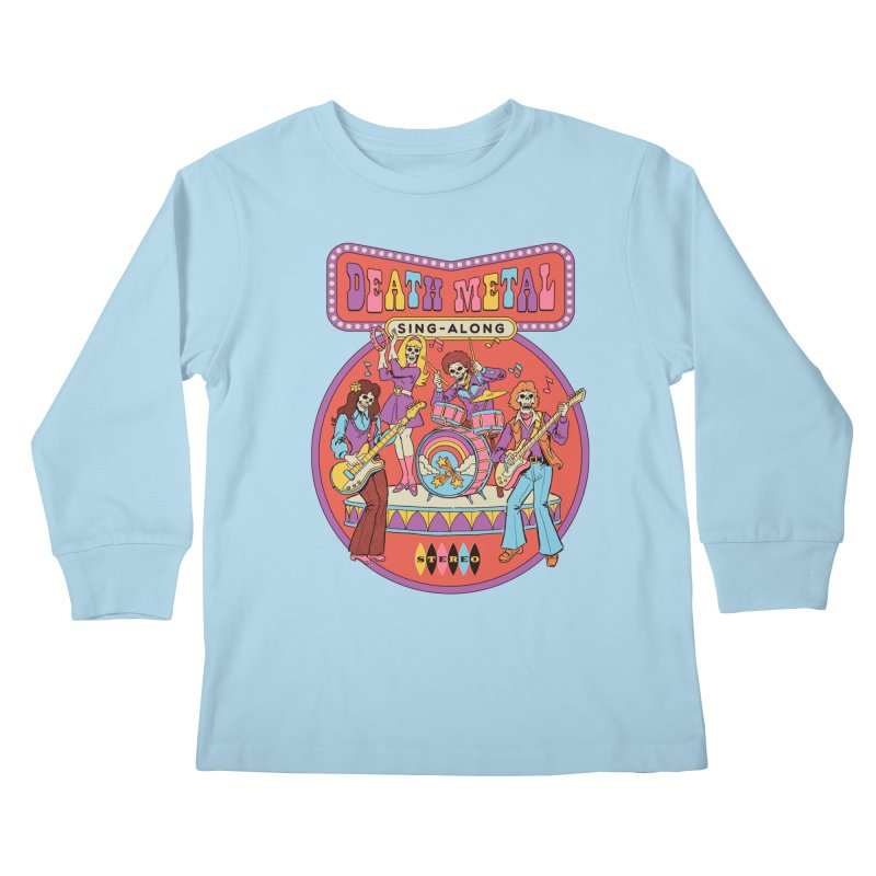 Death Metal Sing-Along Kids Longsleeve T-Shirt by Steven Rhodes