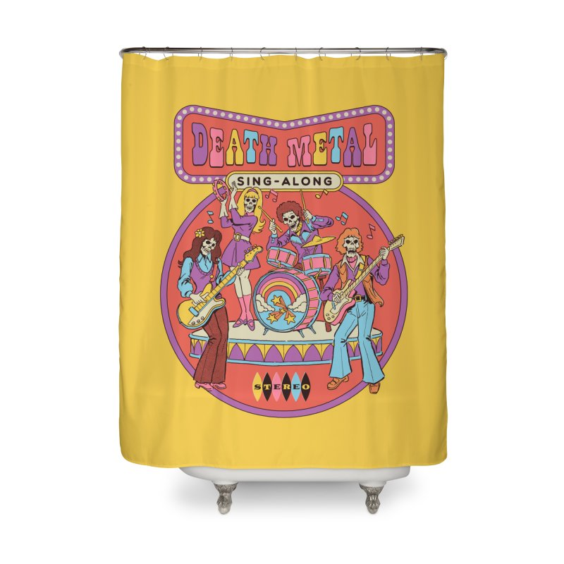 Death Metal Sing-Along Home Shower Curtain by Steven Rhodes
