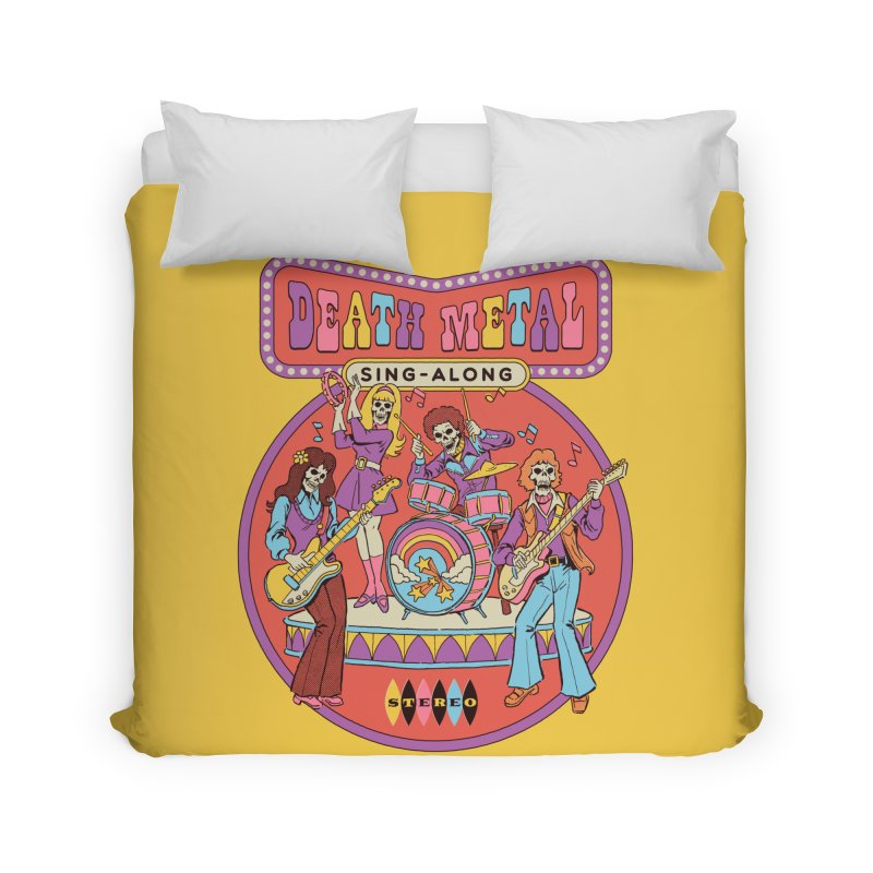 Death Metal Sing-Along Home Duvet by Steven Rhodes