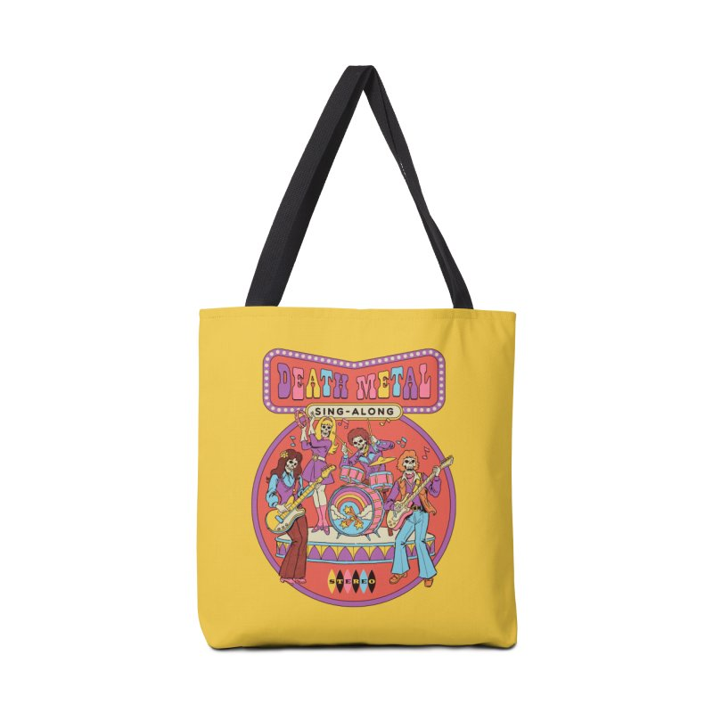 Death Metal Sing-Along Accessories Tote Bag Bag by Steven Rhodes