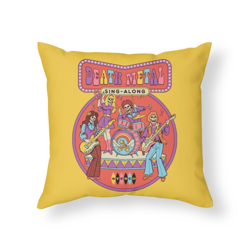 Death Metal Sing-Along Home Throw Pillow by Steven Rhodes