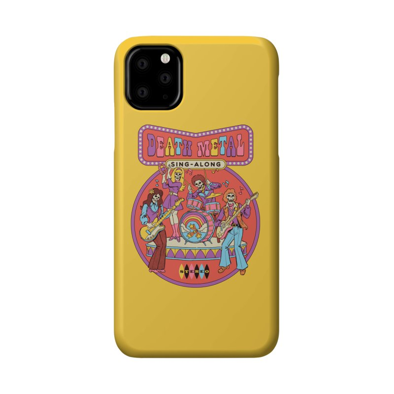 Death Metal Sing-Along Accessories Phone Case by Steven Rhodes