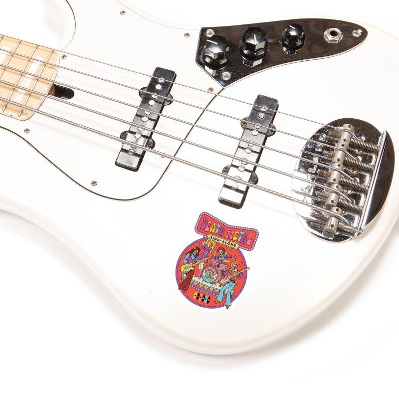Death Metal Sing-Along Accessories Sticker by Steven Rhodes