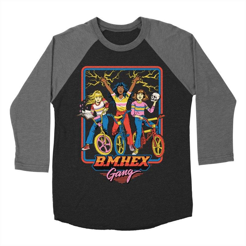 B.M.Hex Gang Men's Baseball Triblend Longsleeve T-Shirt by Steven Rhodes